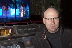 Steve Brodie at digital mixing desk